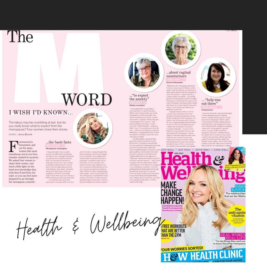 Menopause Journey – Dr Shirin Featured in Health and Wellbeing Magazine