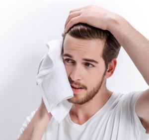 Acne washing face